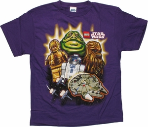 Star Wars Lego Jabba Group Youth T Shirt