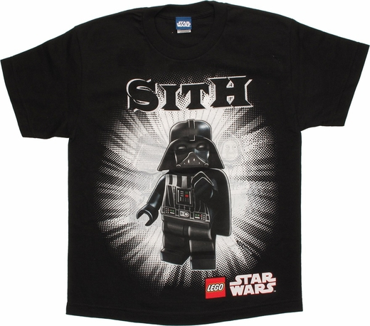 Star Wars Lego Sith Lords Black Youth T Shirt