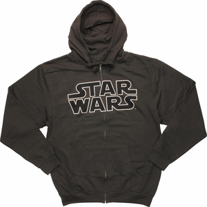 Star Wars Logo Charcoal Mighty Fine Hoodie