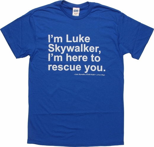 Star Wars Luke Skywalker Rescue You T-Shirt