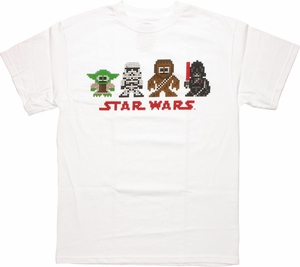 Star Wars Pixel Figures Vader Right T Shirt