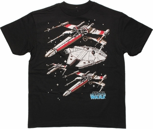 Star Wars Pixel Ships Youth T Shirt