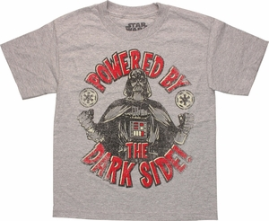 Star Wars Powered By Dark Side Youth T Shirt
