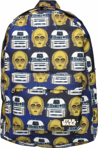 Star Wars R2-D2 and C-3PO All Over Backpack