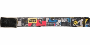 Star Wars R2-D2 and C-3PO Parts Squares Mesh Belt