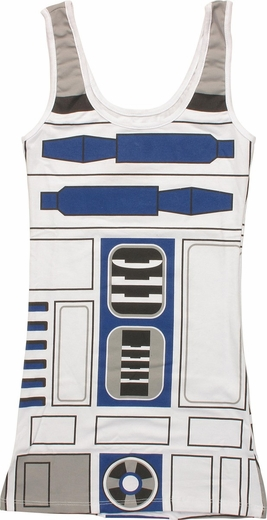 Star Wars R2-D2 Costume Tank Top Juniors T-Shirt