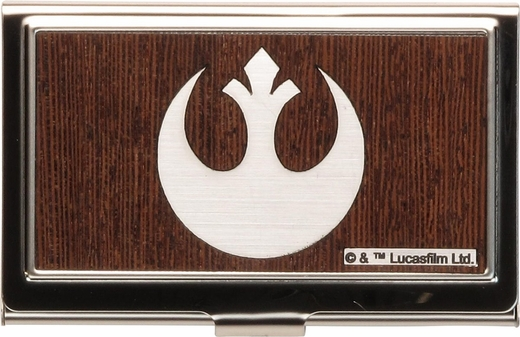 Star Wars Rebel Logo Faux Wood Card Case