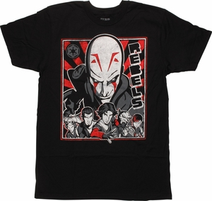 Star Wars Rebels Characters T-Shirt Sheer