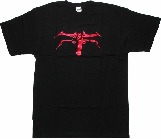 Star Wars Red Foil X-Wing T Shirt Sheer