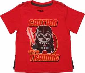 Star Wars Sith in Training Caped Toddler T Shirt