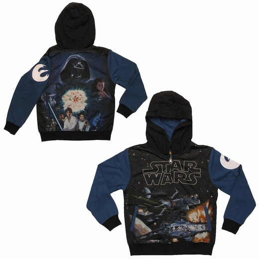 Star Wars Space Stars Sublimated Overlay Juvenile Hoodie
