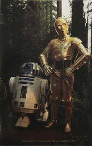 Star Wars R2D2 C3PO Sticker