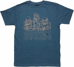 Star Wars Support Troopers T Shirt Sheer