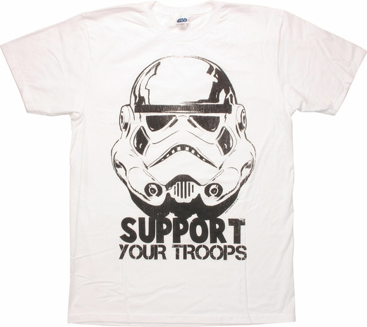 Star Wars Support Your Troops T Shirt Sheer