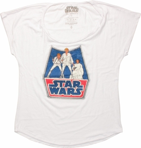 Star Wars Trio Sketch Ladies Tee