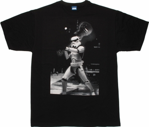 Star Wars Trooper Guitar Smash T Shirt Sheer