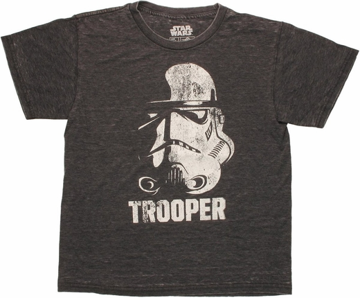 Star Wars Trooper Helmet Burnout Youth T Shirt