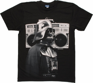 Star Wars Vader Boombox T Shirt Sheer