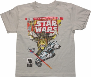Star Wars Vader Comic Cover Juvenile T Shirt