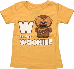 Star Wars W is For Wookiee Toddler T-Shirt