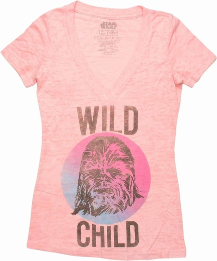 Star Wars Wild Child Burnout V Neck Baby Tee