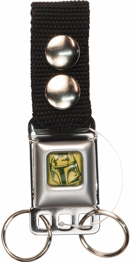 Star Wars Yellow Boba Fett Outline Buckle Keychain