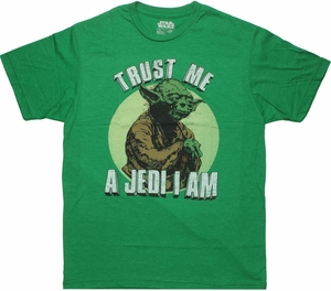 Star Wars Yoda Jedi I Am T Shirt Sheer