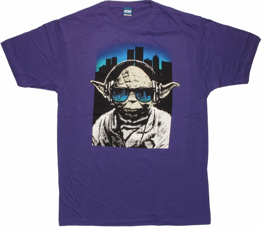 Star Wars Yoda Shades Purple T Shirt