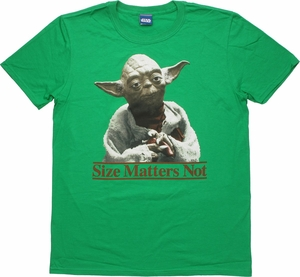 Star Wars Yoda Size Matters Not Green T Shirt Sheer