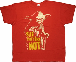 Star Wars Yoda Size Matters Not T Shirt