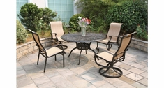 COMMERCIAL ALUMINUM SLING DINING CHAIRS