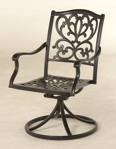 The Burkley Collection Commercial Cast Aluminum Swivel Dining Chair