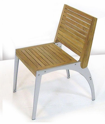 The Adele Collection Armless Commercial Teak Dining Chair