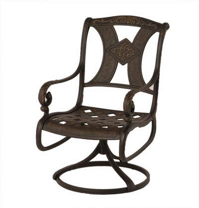 The Amalia Collection Commercial Cast Aluminum Swivel Dining Chair