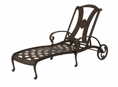 The Amalia Collection Commercial Cast Aluminum Chaise Lounge