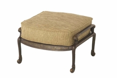 The Amalia Collection Commercial Cast Aluminum Ottoman