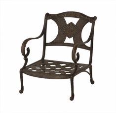 The Amalia Collection Commercial Cast Aluminum Stationary Club Chair