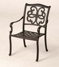 The Alexis Collection Commercial Cast Aluminum Stationary Dining Chair