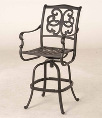 The Alexis Collection Commercial Cast Aluminum Swivel Bar Height Chair