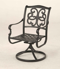 The Alexis Collection Commercial Cast Aluminum Swivel Dining Chair