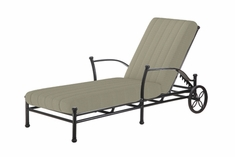 The Auburn Collection Commercial Cast Aluminum Chaise Lounge
