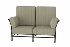 The Auburn Collection Commercial Cast Aluminum Loveseat