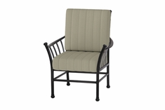 The Auburn Collection Commercial Cast Aluminum Stationary Dining Chair