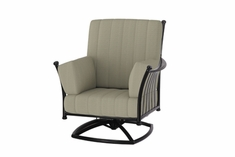 The Auburn Collection Commercial Cast Aluminum Swivel Club Chair