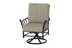 The Auburn Collection Commercial Cast Aluminum Swivel Dining Chair
