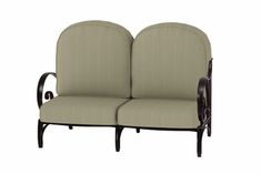 The Ballari Collection Commercial Cast Aluminum Loveseat
