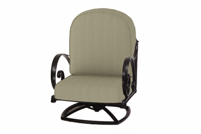 The Ballari Collection Commercial Cast Aluminum Swivel Club Chair
