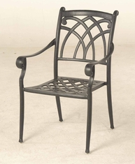 The Fontera Collection Commercial Cast Aluminum Stationary Dining Chair