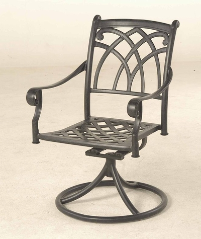 The Fontera Collection Commercial Cast Aluminum Swivel Dining Chair