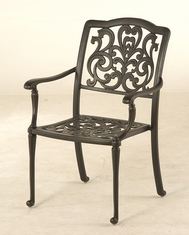 The Bel Aire Collection Commercial Cast Aluminum Stationary Dining Chair